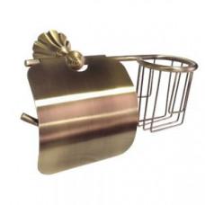 MAGNUS 95244 Держатель для туалетной бумаги и освежителя воздуха / бронза, арт. 95244