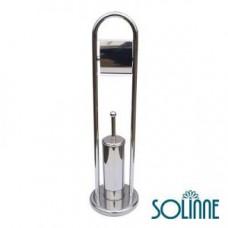 Ершик для унитаза с держателем туалетной бумаги Solinne Y708, арт. Y708