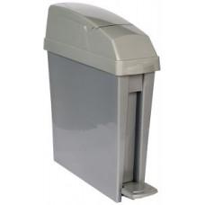 Узкий контейнер для мусора с педалью Rubbermaid San1Ped 20л / платина / RSAN1PEDPLAT, арт. RSAN1PEDPLAT