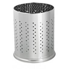 Металлическая офисная корзина для бумаг с перфорацией / хром 5 л / Klimi 472b-00, арт. 472b-00