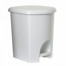Plast Team 1046718 Ведро для мусора с педалью 16 л белое, арт. 1046718