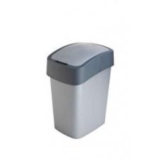 Корзина для мусора с откидной крышкой CURVER FLIP BIN 25L серебро / 186157, арт. 186157