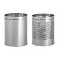 Металлическая офисная корзина для бумаг с перфорацией / хром 5 л / Klimi 2271-00, арт. 2271-00
