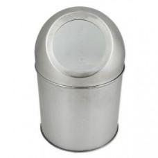 Klimi 101-11 Ведёрко для мусора 1 л круглое , НАСТОЛЬНОЕ - PUSH из нержавеющей стали 410