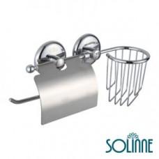 Диспенсер туалетной бумаги с держателем для освежителя воздуха Solinne 665045, арт. 665045