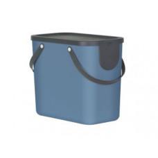 Rotho 10249-B Контейнер для сортировки мусора ALBULA 25 л / синий