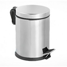 Урна педальная из нержавеющей стали / хром 12 л / Klimi 405-00, арт. 405-00
