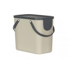 Rotho 10249-C Контейнер для сортировки мусора ALBULA 25 л / капучино