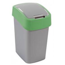Корзина для мусора с откидной крышкой CURVER FLIP BIN 10L зеленый / 190172, арт. 190172