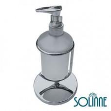 Дозатор для жидкого мыла стеклянный настольный SOLINNE 1010C, арт. 1010C