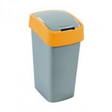 Корзина для мусора с откидной крышкой CURVER FLIP BIN 10L оранжевый / 190168, арт. 190168