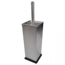 Klimi 307К Ершик квадратный для унитаза из нержавеющей стали / матовая сталь, арт. 307К