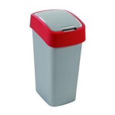 Корзина для мусора с откидной крышкой CURVER FLIP BIN 50L / красный 195024, арт. 195024