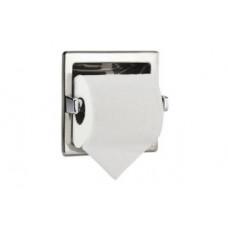 NOFER 05204.B Держатель для 1 рулона туалетной бумаги встраиваемый квадратный с рамкой, арт. 05204.B