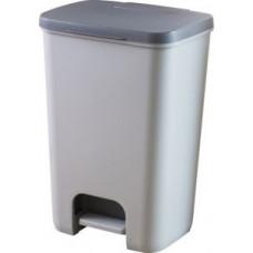 Корзина для мусора с педалью, рамкой и лотком CURVER ESSENTIALS 40L / 225359, арт. 225359