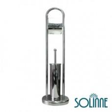 Ершик для унитаза с держателем туалетной бумаги Solinne 1190C, арт. 1190C