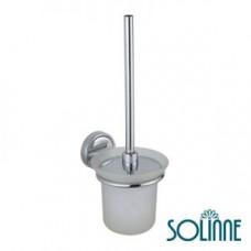 Ершик для унитаза настенный / хром / Solinne 58890, арт. 58890