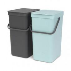 Brabantia 110023 Набор ведер для мусора SORT&GO, арт. 110023