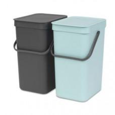 Brabantia 109980 Набор ведер для мусора SORT&GO, арт. 109980