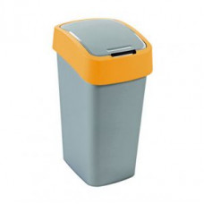 Корзина для мусора с откидной крышкой CURVER FLIP BIN 25L / оранжевый 190169, арт. 190169