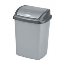 Корзина для мусора CURVER DOMINIK 10 л серебро/графит 174993, арт. 174993