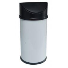 Урна из нержавеющей стали с качающейся крышкой / белый 27 л / Klimi 855B-00, арт. 855B-00