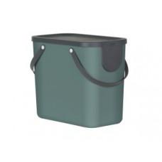 Rotho 10249-G Контейнер для сортировки мусора ALBULA 25 л / темно-зеленый