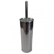 Klimi 502 Ершик для унитаза из нержавеющей стали с орнаментом / хром, арт. 502
