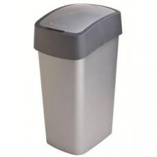 Корзина для мусора с откидной крышкой CURVER FLIP BIN 50L / графит / 186181