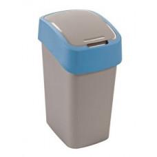 Корзина для мусора с откидной крышкой CURVER FLIP BIN 10L синий / 217816, арт. 217816