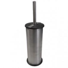 Klimi 301 Ершик для унитаза из нержавеющей стали с пластиковой крышкой / матовая сталь, арт. 301
