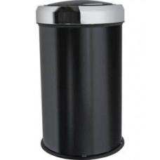 Урна из нержавеющей стали с вращающейся крышкой / черный 45 л / Klimi 807S-00, арт. 807S-00