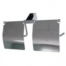 TITAN 77033 Двойной держатель для туалетной бумаги с экраном, арт. 77033