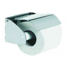 NOFER 05203.В Держатель туалетной бумаги встраиваемый в стену плоский с крышкой глянцевый, арт. 05203.В