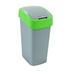 Корзина для мусора с откидной крышкой CURVER FLIP BIN 50L / зеленый 195022, арт. 195022