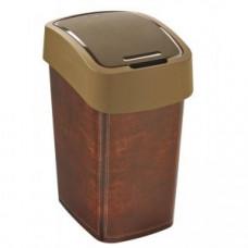 """Корзина для мусора с откидной крышкой CURVER FLIP BIN 25L / с принтом """"под кожу"""" / 209995"""