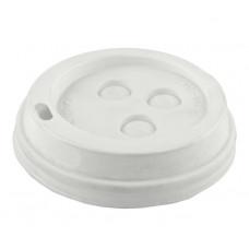 Крышка для стакана 3-х слойного для горячих напитков белый d86 (100 шт/упак)