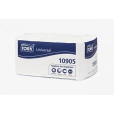 Cалфетки для диспенсера Tork Counterfold System, 300 листов, 1 слой, размер 30*33 см, белый, N1 (16 шт/упак), арт. 10905/10935