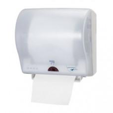 Сенсорный диспенсер для бумажных полотенец в рулонах, ширина 19,5 см, белый, Н12, арт. 471107