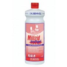 MILIZID SHINE 1 л, трехфазное фазное кислотное средство для очистки санитарных зон с эффектом блеска