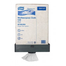 Нетканый материал повышенной прочности в малом рулоне со съемной втулкой Tork Premium, 280 листов, 1 слой, размер 38*32 см, белый, W1/W2/W3, арт. 530137