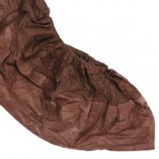 Бахилы нетканые с ламинированной подошвой (коричневые),  (100 шт/упак), арт. 55250