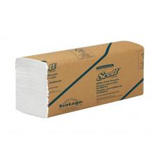 Полотенца для рук Scott MutiFold 1 слой, 250 листов, белый (W-сложение), арт. 3749