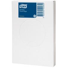 Пакеты гигиенические полиэтиленовые Tork, 25 пакетов, белый, В5, арт. 204041
