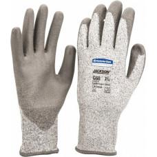Перчатки с нитриловым покрытием многоразовые JACKSON SAFETY G60 стойкие к порезам (3 уровень), размер 8, серые, арт. 97431