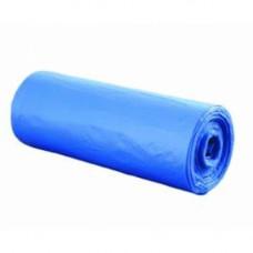 Пакет для мусора, 120 л, 70 * 110, голубой (10 шт/рул), арт. 21715