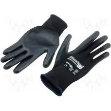 Перчатки с полиуретановым покрытием многоразовые KLEENGUARD G40 Polyurethane Coated, размер 7, черный, арт. 97360