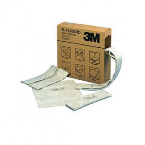 Высоко-сорбирующий материал 3М для нефтепродуктов и масел, рулон 96 см * 44 м, белый, арт. 7000001940, 3M