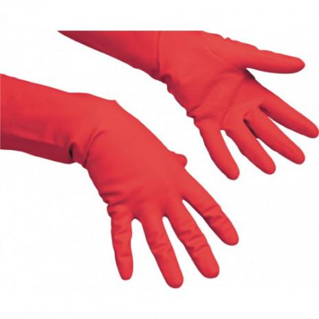 Перчатки латексные Vileda Многоцелевые, L, красные, 1пара, арт.100751, Vileda Professional