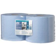 Протирочная бумага в рулоне со съемной втулкой Tork Плюс Advanced, голубая, 750 листов, 2 слоя, размер 255*24 см, W1/W2 (2 шт/упак), арт. 130052